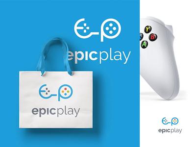 Epic Play Logo concept controller logo gaming logos gaming icon games logo games gaming gaming logo epicplay logo epic play logo epic play epicplay