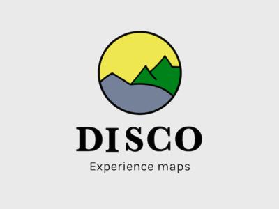 Disco Brand brand woodcut logo