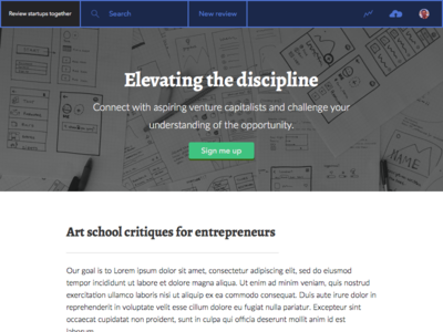 Elevating the discipline landing page hero