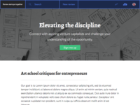 Elevating the discipline
