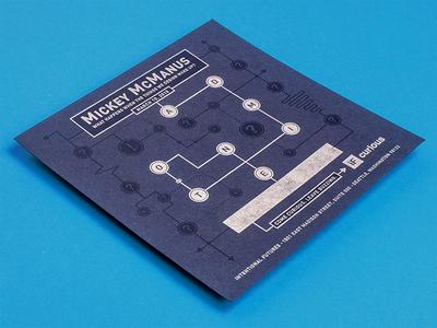 If Curious Invitation schematic invitation curious branding letterpress