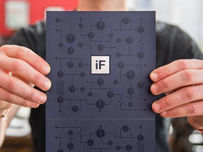 If Curious Invitation Backside handmade printmaking schematic invitation curious branding letterpress