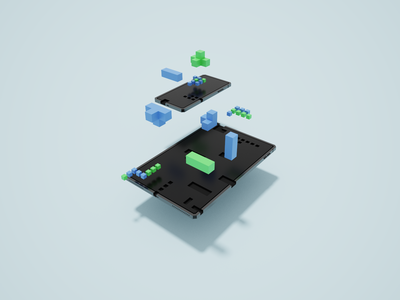 Voxel Devices blocks ipad iphone device voxelart magicavoxel abstract design voxel