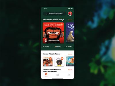 Reader App Concept audible novel books readers reader ui ux design app ios app ios