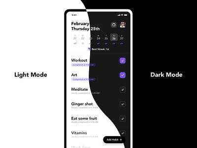 Habit Tracker App Concept Pt. 3 habit tracker habit concept ux ui app design
