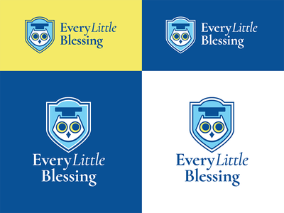 Every Little Blessing - Option 02. owl mascot child childlike children education school kids preschool