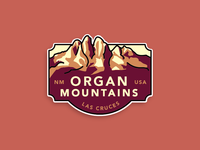 Organ Mountains new mexico badge mountains parks usa southwest nm nature