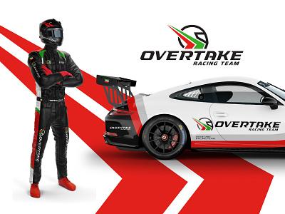 Overtake | Racing Team logo helmet auto jetski motocross dragrace speed motorsport racing overtake