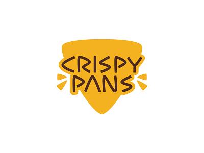 Crispy Pans arabic yellow kuwait fries sambosa samosa crunchy restaurant food logo pans crispy
