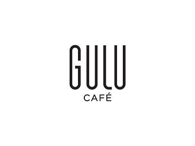 Gulu Cafe restaurant food typogaphy logotype mocha coffee cafe gulu