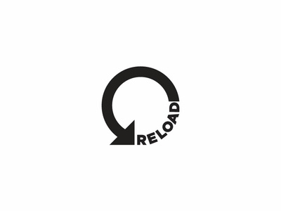 Reload mark logo load reload