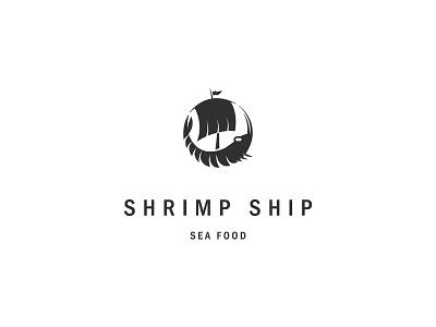 Shrimp Ship 2 sail restaurant logo seafood sea boat ship