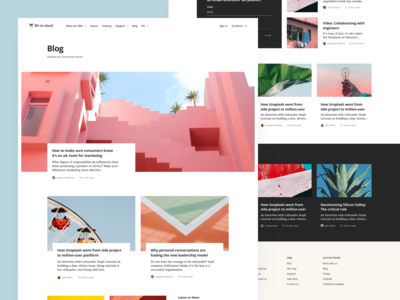Bit On Cloud — Blog ☁️ design happy pastel colourful color open sans merriweather article cloud bit blog ui significa