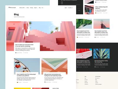 Bit On Cloud — Blog ☁️ design happy pastel colourful color open sans merriweather article cloud bit blog ui significa