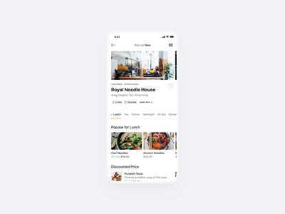 Oopsie 🍜 Restaurants mobile app dark oopsie orange pick-up menu dishes clean ui significa takeout chinese takeaway food