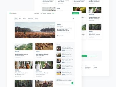🌳Reforestum Blog cards apercu green forest significa grid white ui blog