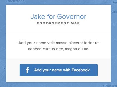 Endorsement map signup