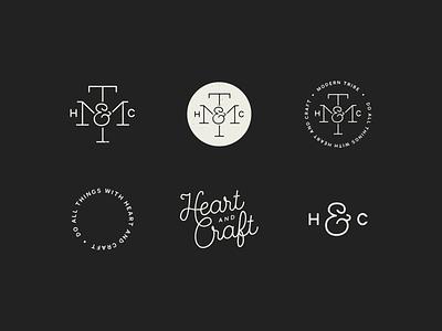 Heart & Craft monogram icon logo