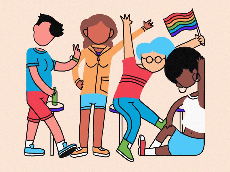 Rainbow People 🌈 colors lgbt illustration