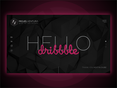 Hello dribbble! portfolio ui design design first shot