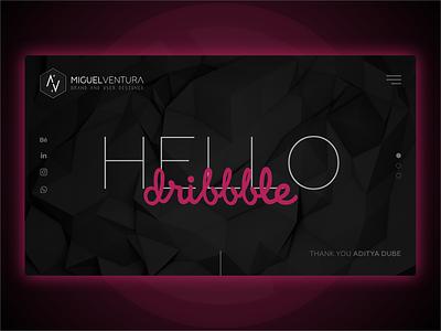 Hello dribbble! portfolio ui design design first shot