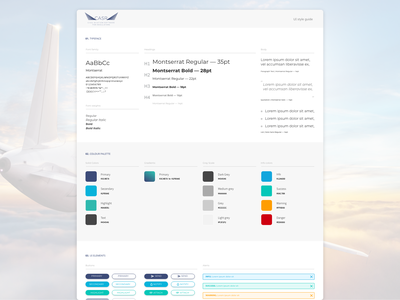 UI style guide ui software crm saas airline aircraft airplane adobe xd xd elements components style tile styleguide ui guide design system