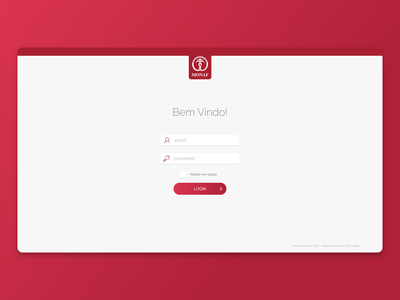 MONAF Login Screen sign in login dashboad admin ui software saas adobe xd