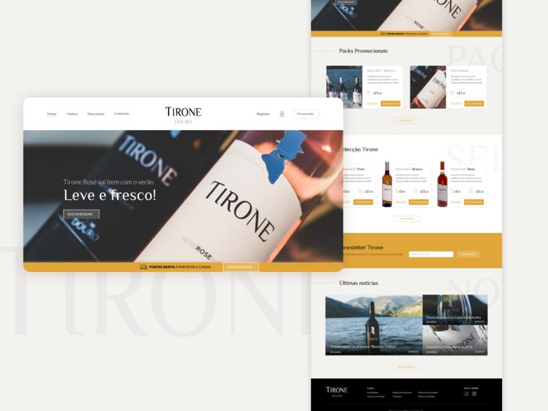 TIRONE wine website adobe xd ux ui ecommerce wine website
