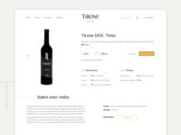 TIRONE wine website