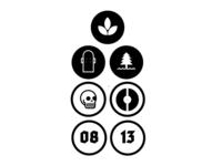 Icons for Skillshare project: Logo design w/ Aaron Draplin