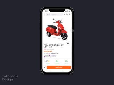 Tokopedia - Vehicle Leasing interaction animation ecommerce leasing bike vehicle tokopedia app ux ui