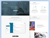 Landing Page Concept for Software Company