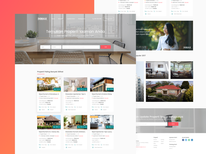 Inmax Property - Website Redesign ui ux website homepage listing property apartement house