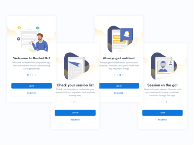 RocketOn App - Onboarding Screens