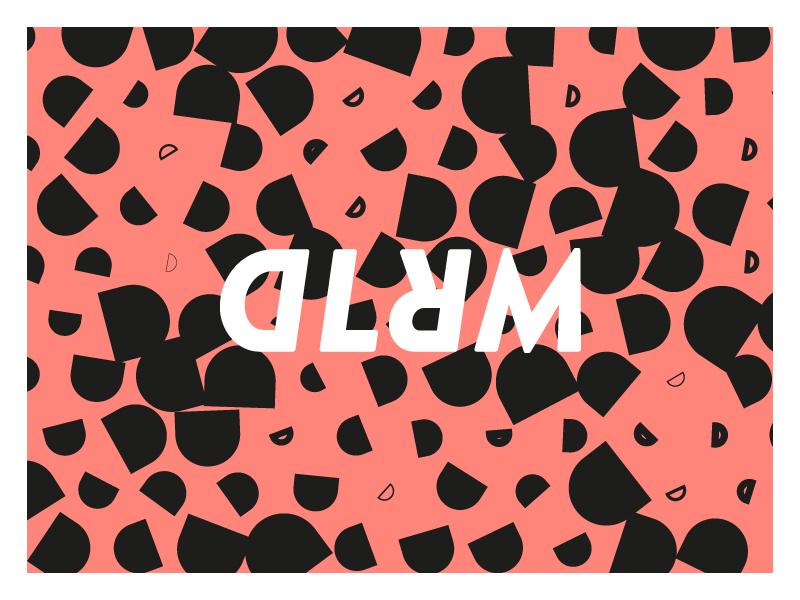 Dlrm Pattern / Logolockup typography logodesign logo branding type