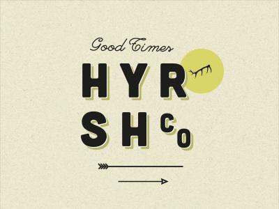 HYRSH apparel fashion logo type typography vintage retro hyrsh print lettering sign