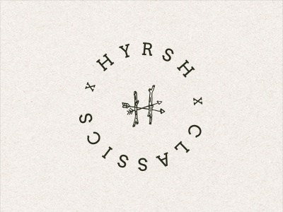 H02 apparel fashion logo type typography vintage retro hyrsh print lettering sign