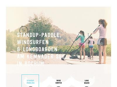 WestUfer Web WIP texture analog minimal club school sup surf website ui layout web webdesign