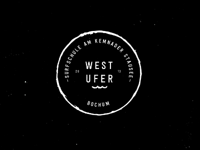 Westufer Logo Neg handmade retro circle vintage sign mark stamp brandmark branding brand logodesign logo