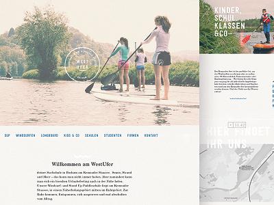 West Ufer Website responsive desktop analog handmade school sup surf webdesign web website