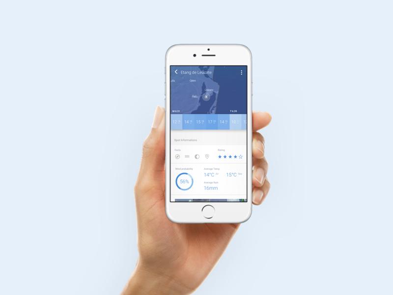 Windmeter minimal android ios mobile interface ux ui app forecast weather