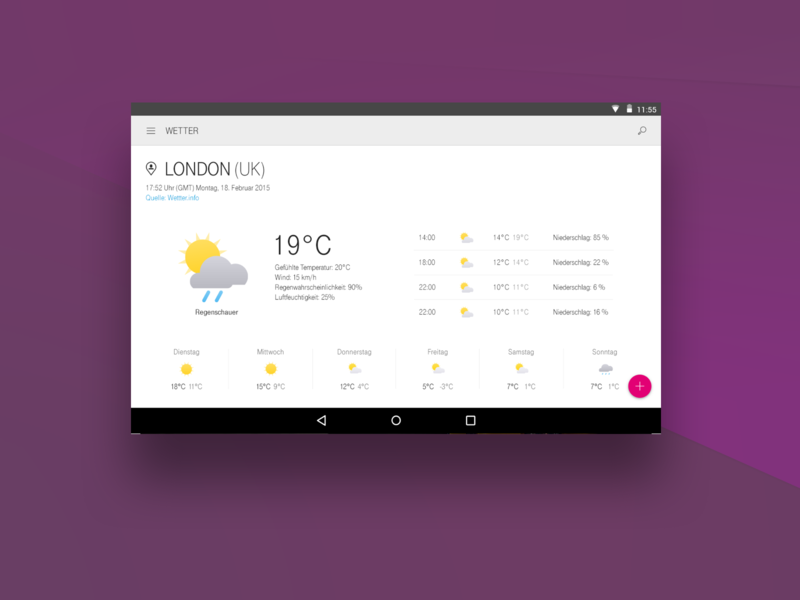 Telekom Android Weather UI touch tablet digital product design product saas app design app weather user interface interface android ux ui