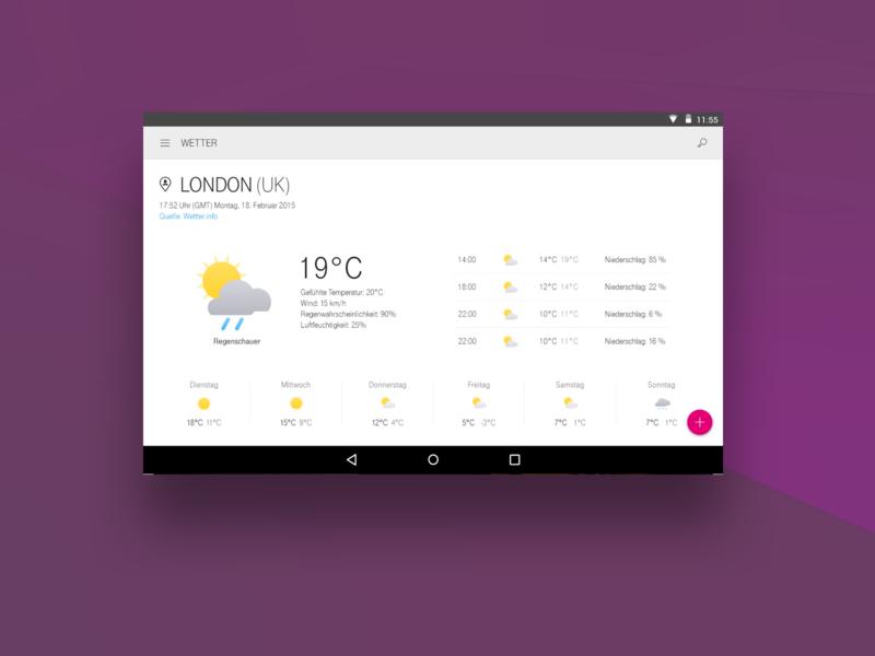 Telekom Android Weather UI