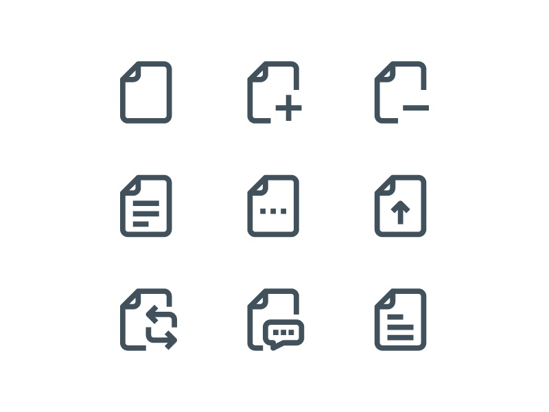 Material Icons - File And folder by libertetstudio on Dribbble