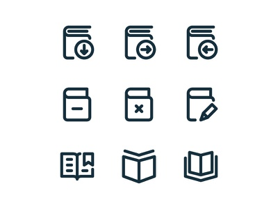 Material Icons - Book and tax app icon illustration line outline symbol ui vector website paper folder icon
