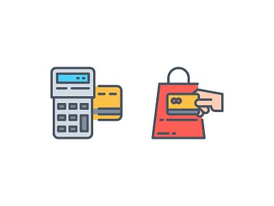 Payment methods !! app icon illustration line outline symbol ui vector website