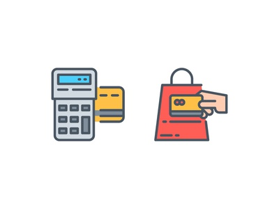 Payment methods !! app icon illustration line outline symbol ui vector website