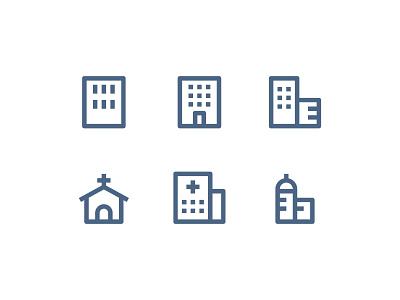 Material Icons - Building building folder icon paper website vector ui symbol outline line illustration icon app