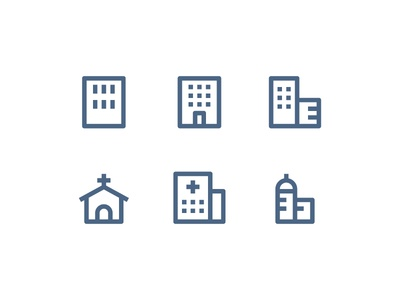 Material Icons - Building building folder icon paper website vector ui symbol outline line illustration icon app