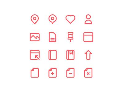 Free 100 Essential icons set website vector ui symbol outline line illustration icon app